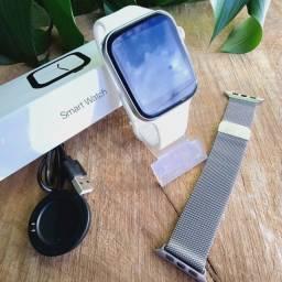 Smartwatch iwo 13 novo t500 Prata Chamadas Bluetooth Com Brinde!!!