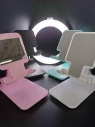Suporte de Mesa para Celular Ajustável Articulado Tablet Smartphone