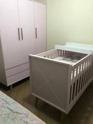 Kit: Berço e Guarda-Roupas para Bebê