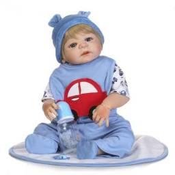 Boneco Bebê Reborn silicone