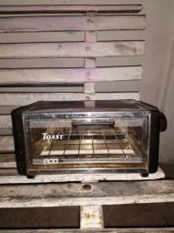 Forninho elétrico toast eco parte de fora aço inoxidável