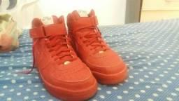 Tênis Nike Air Force vermelho tamanho 41