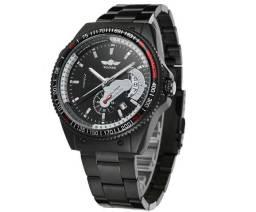 bac78f54c2d Relógio Automático Luxuoso Com Data Winner Preto à prova d água 100% Novo e