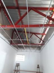 Forro Pvc Colocado com Estrutura Metálica