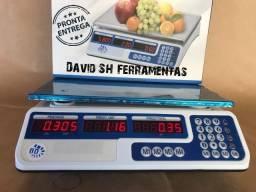 Balança Digital 40kg Eletrônica 110/220V C/ Bateria integrada Nova