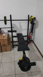 Academia Doméstica Master Gym IV Polimet + 44kg anilhas