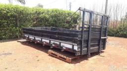 Carroceria de madeira para caminhões 3/4 Ford, solos e mercedes