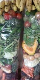 R$ 30 Sacolão de Verduras Diversas, + Banana, Farto, Entrega Grátis!