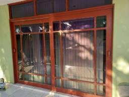 Portas e janelas Jatobá - completas - Oportunidade