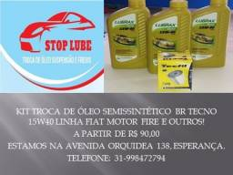 Troca de óleo suspensão e freios