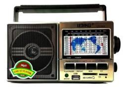 Rádio Retrô Portátil Am Fm Usb Sd Fone Ouvido Le-604 Lelong