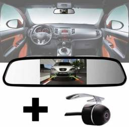 Espelho Retrovisor Lcd Tela Estacionamento Com Câmera Ré 2 em 1