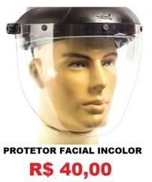 Protetor Facial Incolor 8'' Profissional