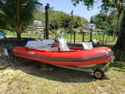 Lancha inflável 5 metros Sailmaster SR5 + Motor de popa 60 HP Yamaha 2 tempos
