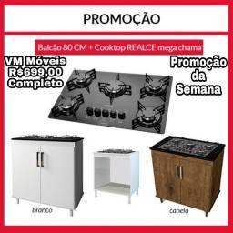 Balcão + Cooktop 5 bcs