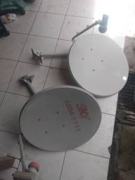 Antena da Sky e da Claro