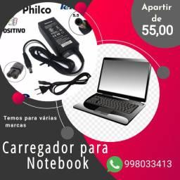 Carregador para Notebook temos para vários modelos