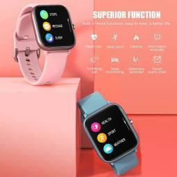 Smartwatch Colmi P8 nas cores preta rose azul e dourado