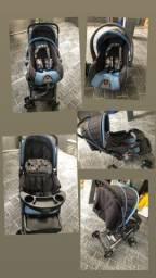 Carrinho de passeio e bebê conforto