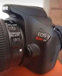 Câmera t6 Canon+ lente 50mm yongnuo novinha, Parcelo sem juros.