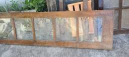 Porta de vidro madeira maciça de 60 em perfeito estado tenho duas folhas dela