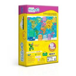 Quebra-Cabeça Mapa do Mundo 200 peças