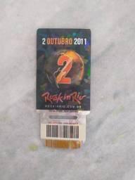 Ingresso Rock in Rio 02/10/2011 não usado - Guns N' Roses, System of a Down e Evanescence