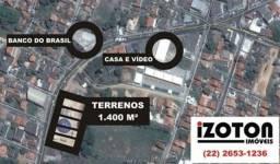 Lotes comerciais 1.400 M2 em Bacaxá