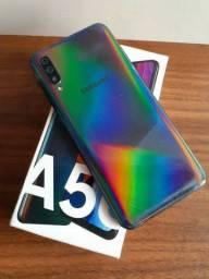 Samsung Galaxy a50 64 GB com acessórios completo