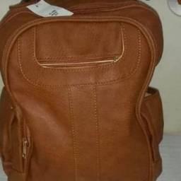 Promoção mochila de couro sintético feminina tamanho grande