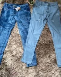 Calças jeans feminina novas