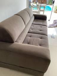 Sofá de três lugares retrátil