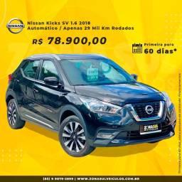 Nissan Kicks SV 1.6 2018 / Automático (Apenas 29 Mil Rodados)