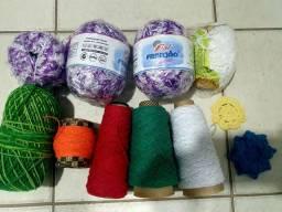 Vende se jogo de linha de crochê leia descrição