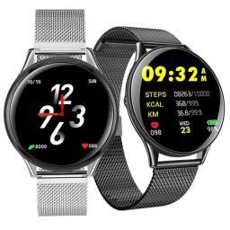 Relógio SmartWatch SN58 Tela de Vidro Temperado À Prova D'água (Android e iOS)