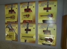 Instrumentos Musicais em Miniatura da Editora Salvat