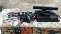 Xbox 360 completo + 8 jogos