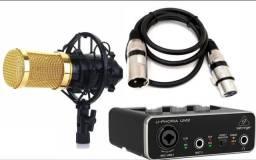 Kit Home Studio - Interface de Audio+Microfone Condensador+Cabo Xlr