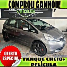 TANQUE CHEIO SO NA EMPORIUM CAR!!! HONDA FIT LX 1.4 AUTOMATICO ANO 2009 COM MIL DE EA