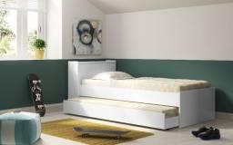 Bicama Baú com cama Auxiliar Branco - 0012
