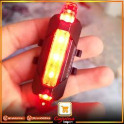 Farol Traseiro para Bicicleta Luz de Led USB Recarregável m22d10sd20