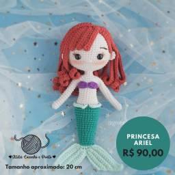 Ariel Sereia - Pequena Sereia - Boneca de crochê