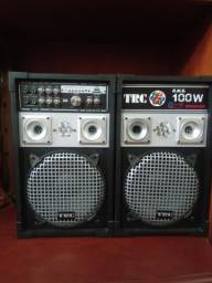 Caixa amplificada TRC 100 wats rms (par)