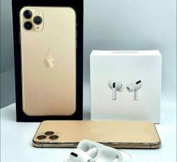 Iphone 11 pro Max e fone sem fio