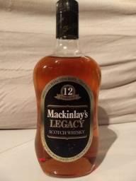 Whisky Mackinlay's 12 Anos 750ml raro antigo colecionador anos 80
