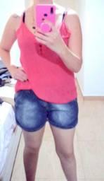 Shorts também 42/44 blusa m