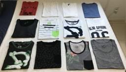 Camisas camisetas praticamente novas TAM P e M