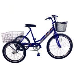 Triciclo Twice Adulto com Marcha rodas aero e 2 cestas