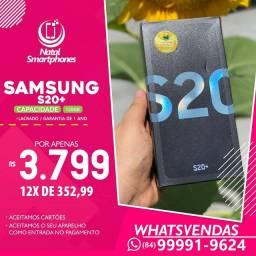 Samsung Galaxy S20 PLUS (128GB) LACRADO (1) ANO DE GARANTIA ( AZUL, PRETO, CINZA )