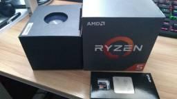 Kit processador Ryzen 5 1600 + Placa mãe Asus a320m